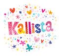 Kallista girls name