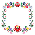 Kalocsai pattern a beautiful hungarian floral Royalty Free Stock Photo