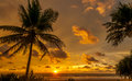 Kalutaras sunset in the indian ocean Royalty Free Stock Image