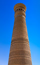 Kalyan the biggest minaret of bukhara uzbekistan also known as tower death is one most prominent landmarks in Stock Photos