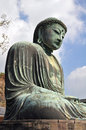 Kamakura daibutsu at kotoku in temple japan Stock Image