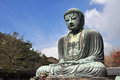Kamakura daibutsu at kotoku in temple japan Royalty Free Stock Image