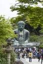 Kamakura, Japan - May 06, 2014 :The Great Buddha (Daibutsu) Royalty Free Stock Photo