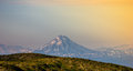 Kamchatka vulkan sunshine mountain Stock Image