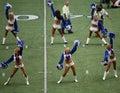 Kamery cheerleaders kowbojów mężczyzna Obraz Stock