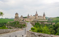 Kamianets podilskyi castle view from the old town ukraine Royalty Free Stock Photo