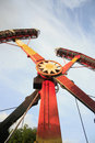 Kamikaze Ranger Adventure Ride in Amusement Park Royalty Free Stock Photo