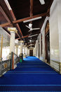 Kampung kling mosque in melaka malaysia interior of Royalty Free Stock Photography