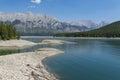 Kananaskis Lake in Rocky Mountains Alberta Canada Royalty Free Stock Photo