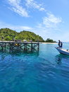 Kanawa island is a small beautiful tropical fully surrounded by white sandy beaches and coral reefs with crystal clear warm Stock Photos