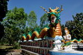 Kanchanaburi, Thailand: Dragon at Temple Stock Images