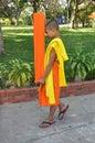 Kanchanaburi, Thailand: Student Monk Stock Photography