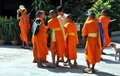 Kanchanaburi, Thailand: Young Monks Royalty Free Stock Photography