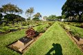 Kanchanaburi war cemetery thailand the known locally as the don rak is the main prisoner of pow associated with Royalty Free Stock Photo