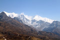 Kanchenjunga from viewpoint dzongri in goechala trek Royalty Free Stock Images
