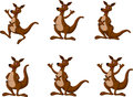 Kangaroo cartoon set Royalty Free Stock Photos