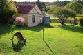 Kangaroo grazing in yard at Hill End Royalty Free Stock Photo