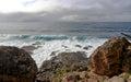Kangaroo island rocky coastline a view of the of australia Royalty Free Stock Images