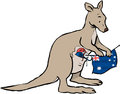Kangaroo knitting Australia Royalty Free Stock Photo