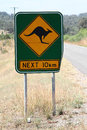 Kangaroo sign warning in australia Royalty Free Stock Photos