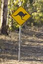 Kangaroo signal on the rural road Perth Australia nice Royalty Free Stock Photo