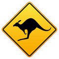 Kangaroos ahead Royalty Free Stock Photo