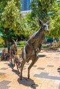 Kangaroos in the city sculpture in Perth, Australia Royalty Free Stock Photo