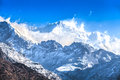 Kangchenjunga is the third highest mountain in world it rises with an elevation of m from dzongri view point Stock Photography