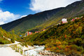 The kangdin city is on the highland sichuan china Royalty Free Stock Images