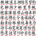 Kanji collection Royalty Free Stock Photo