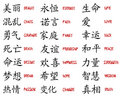Kanji collection Royalty Free Stock Photo