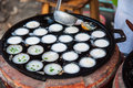 Kanom krok , kind of Thai sweetmeat Stock Photos
