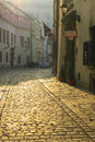Kanonicza street in early morning light, Krakow, Poland. Royalty Free Stock Photo