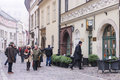 Kanonicza street in early morning light, Krakow, Poland. Royalty Free Stock Photo
