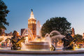 Kansas City Missouri a city of fountains Royalty Free Stock Photos