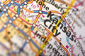 Kansas City, Missouri on map Royalty Free Stock Photo