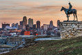 Kansas city scout missouri usa on march a image of the overlooking at sunrise the indian is known as Royalty Free Stock Image