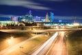 Kansas City Skyline at Night Royalty Free Stock Photo
