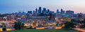 Kansas City skyline panorama. Royalty Free Stock Images