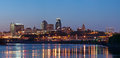 Kansas City skyline panorama. Stock Photo