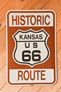 Kansas Route 66 Sign Stock Images