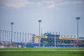 Kansas Speedway in Kansas City KS at sunrise Royalty Free Stock Photo