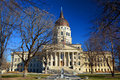 Kansas State Capitol Building in Winter Royalty Free Stock Photo