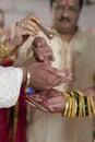 Kanya Daan Ritual in Indian Hindu wedding Royalty Free Stock Photo
