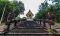 Kao pha tum ma kan temple in prachinburi from thailand Stock Images