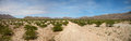 Kaokoland desert road surreal panorama in the region Royalty Free Stock Photo