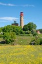 Kap arkona ruegen island baltic sea germany the famous lighthouse at mecklenburg vorpommern Royalty Free Stock Photography