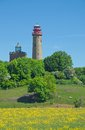 Kap arkona ruegen island baltic sea germany the famous lighthouse at on mecklenburg vorpommern Stock Photos