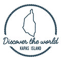 Kapas Island Map Outline. Vintage Discover the.