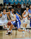 Kaposvar - Dombovar basketball game Stock Photography
